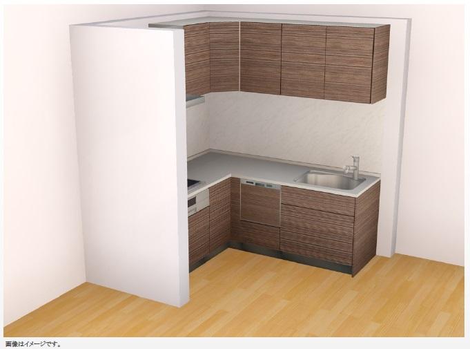 【キッチン(イメージ図)】食器洗浄乾燥機付きのシステムキッチンに新品交換します♪