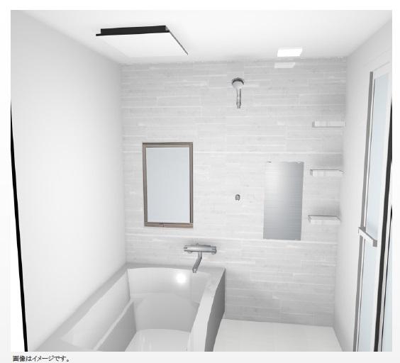 【浴室(イメージ図)】ユニットバスも新品になります♪浴室換気乾燥暖房機完備でいつでも快適にご入浴できます♪♪