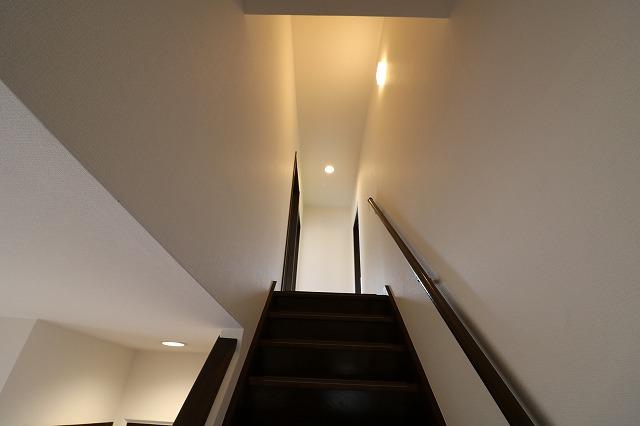 手摺付階段